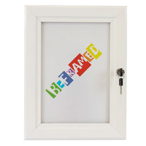 Lockable Poster Case - White