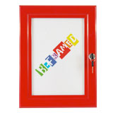 Lockable Poster Case - Red