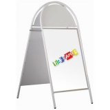 Tubular A-Board with Header - White
